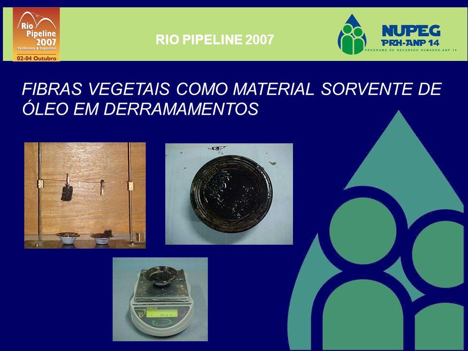 RIO PIPELINE 2007 FIBRAS VEGETAIS COMO MATERIAL SORVENTE DE ÓLEO EM DERRAMAMENTOS