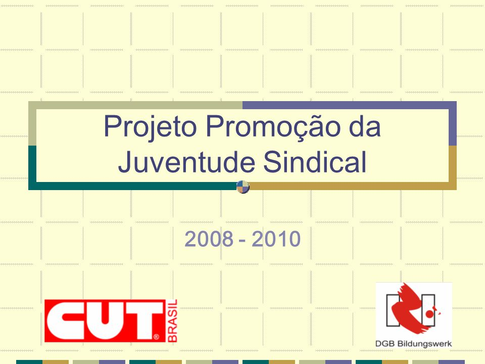 Projeto Promoção da Juventude Sindical 2008 - 2010