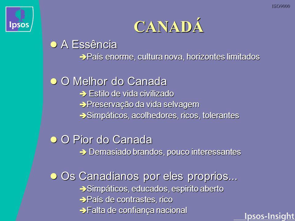 ISO9000 CANADÁ A Essência A Essência País enorme, cultura nova, horizontes limitados País enorme, cultura nova, horizontes limitados O Melhor do Canad