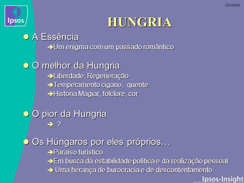 ISO9000 HUNGRIA A Essência A Essência Um enigma com um passado romântico Um enigma com um passado romântico O melhor da Hungria O melhor da Hungria Li