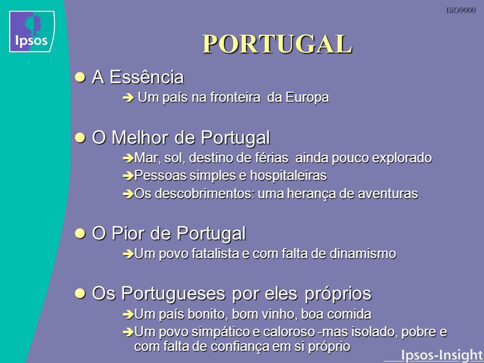 ISO9000 PORTUGAL A Essência A Essência Um país na fronteira da Europa Um país na fronteira da Europa O Melhor de Portugal O Melhor de Portugal Mar, so