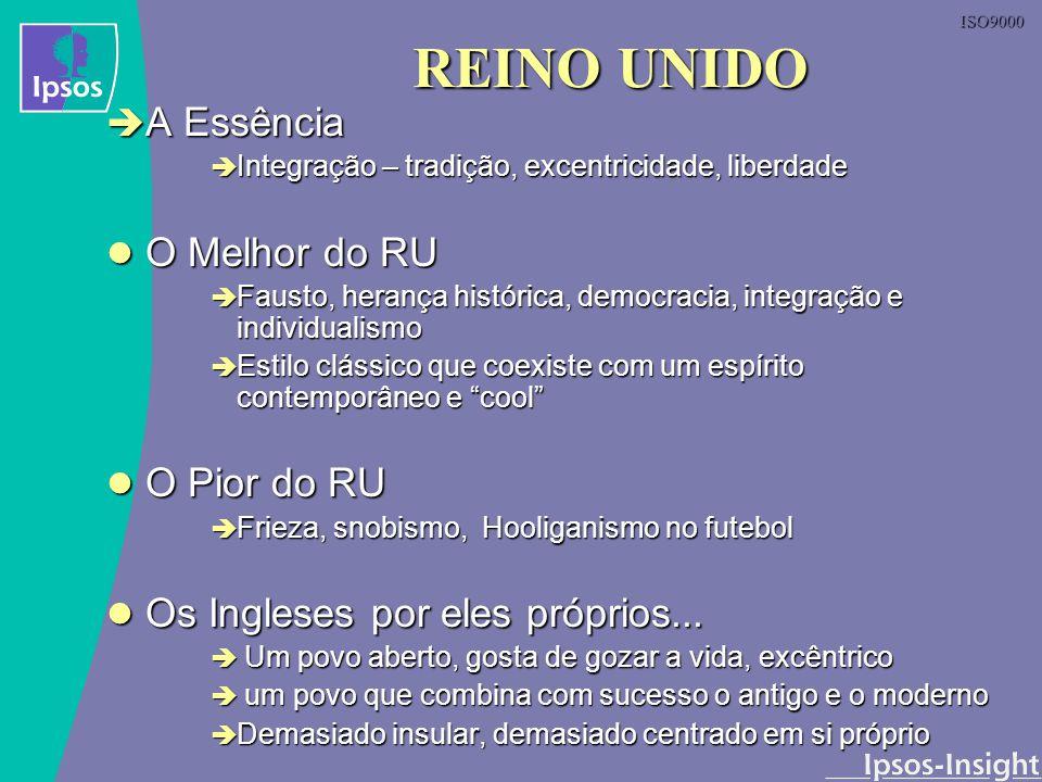 ISO9000 REINO UNIDO A Essência A Essência Integração – tradição, excentricidade, liberdade Integração – tradição, excentricidade, liberdade O Melhor d