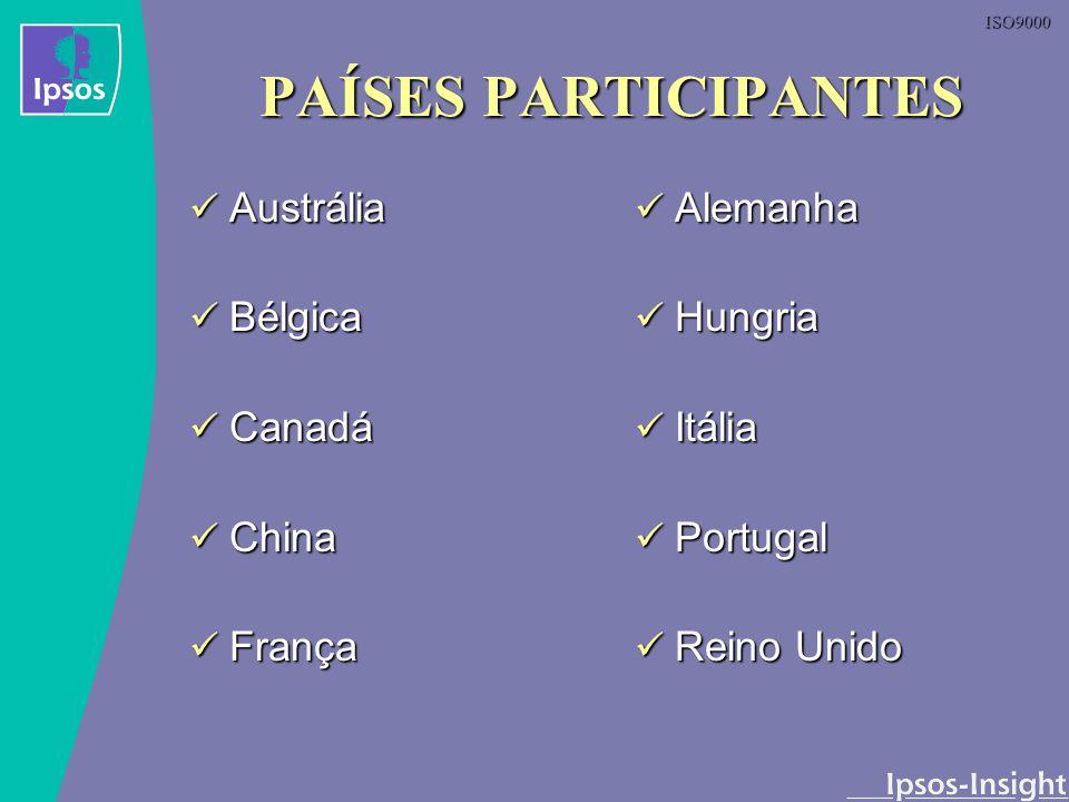 ISO9000 PAÍSES PARTICIPANTES Austrália Austrália Bélgica Bélgica Canadá Canadá China China França França Alemanha Hungria Itália Portugal Reino Unido