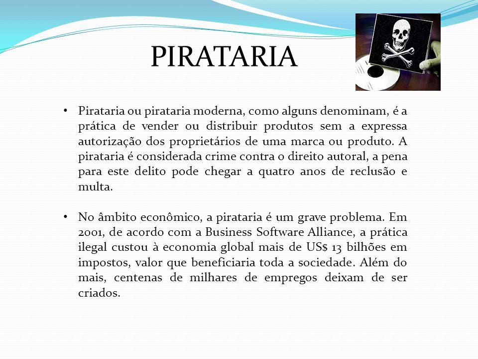Pirataria ou pirataria moderna, como alguns denominam, é a prática de vender ou distribuir produtos sem a expressa autorização dos proprietários de uma marca ou produto.