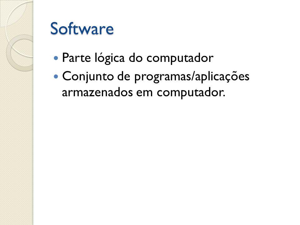 Classificações/Características Básico: Aquele que necessário para que o computador possa se tornar funcional, ou seja, o sistema operacional do computador.