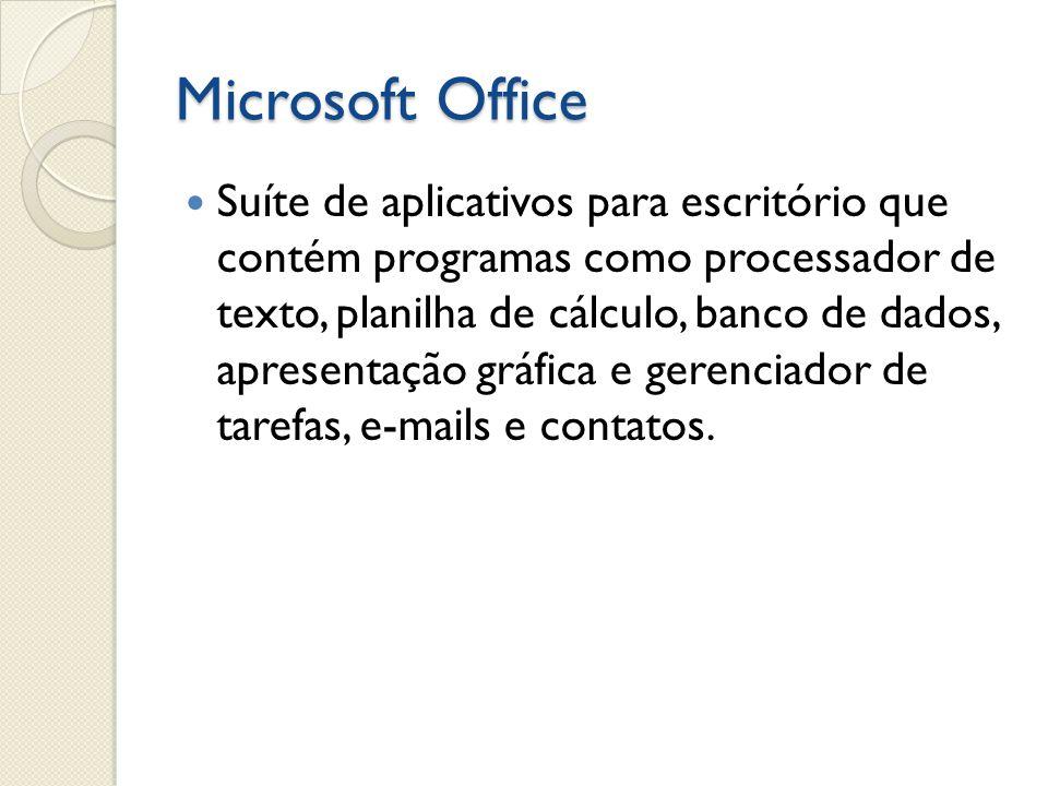 Word Processador de texto do Microsoft Office.