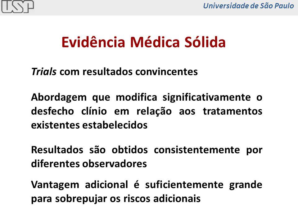 Abordagem que modifica significativamente o desfecho clínio em relação aos tratamentos existentes estabelecidos Resultados são obtidos consistentement