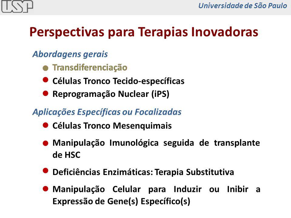 Células Tronco Tecido-específicas Abordagens gerais Perspectivas para Terapias Inovadoras Reprogramação Nuclear (iPS) Transdiferenciação Manipulação I