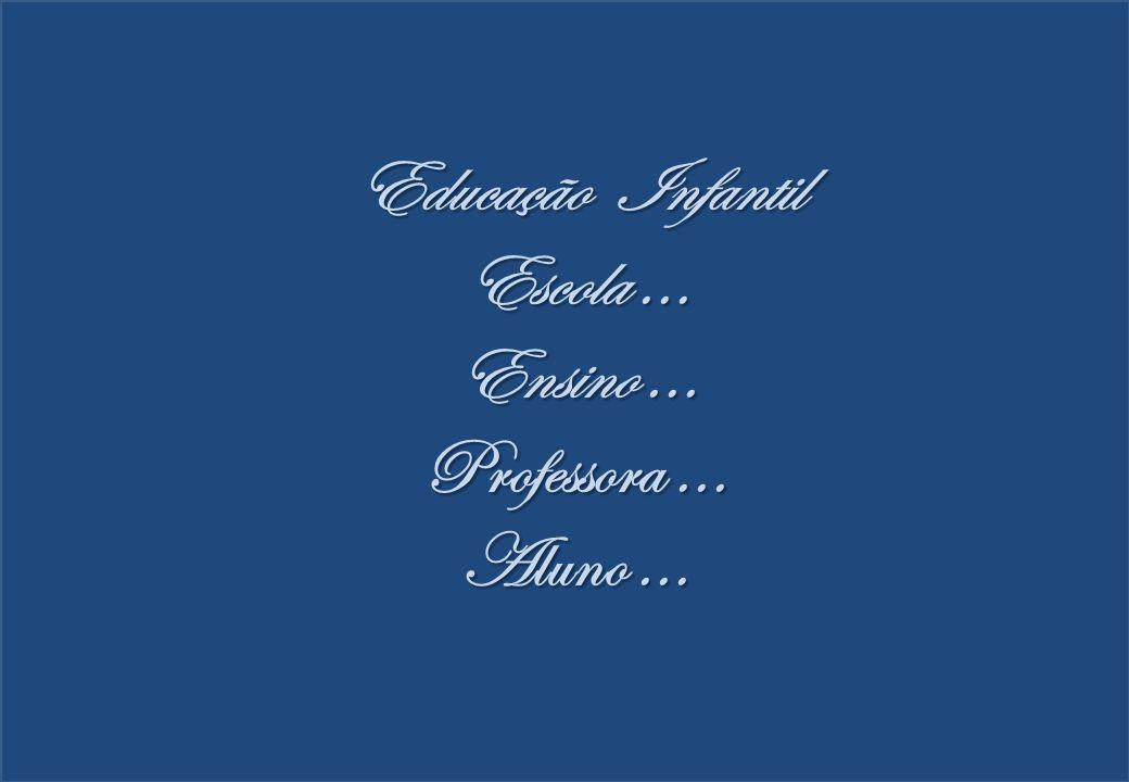 Educação Infantil Escola... Ensino... Professora... Aluno...