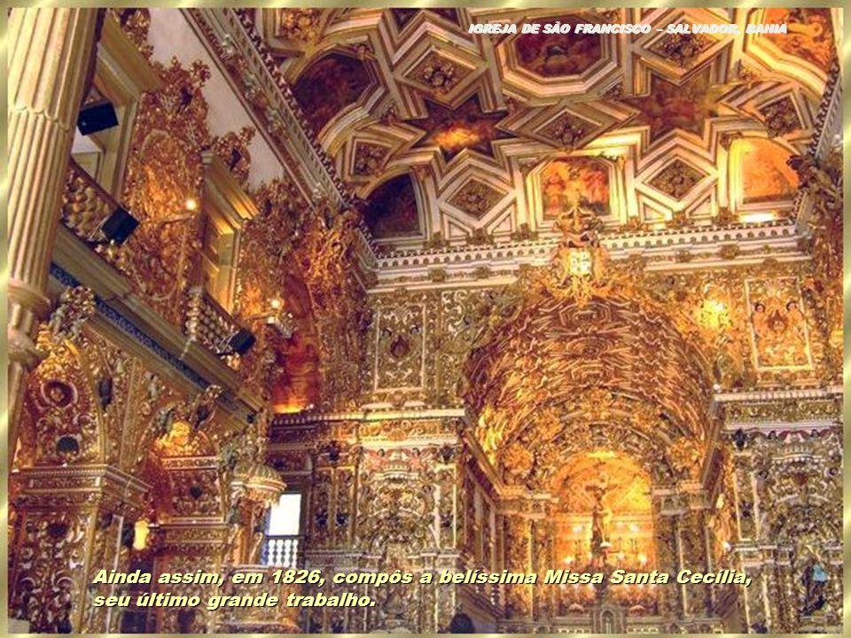 Devido à precariedade financeira do país, seu sucessor D. Pedro I, apesar de amante da música e simpático ao padre, não pôde manter benefícios finance