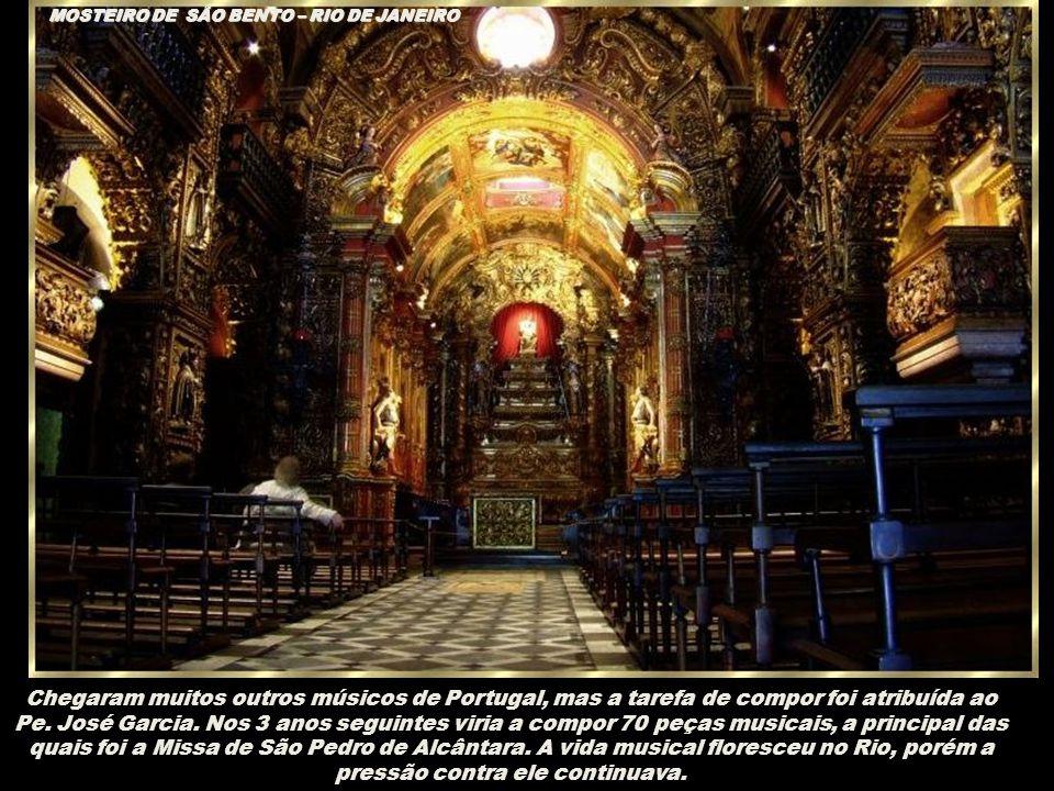 CANDELÁRIA A vinda da Corte muda o panorama artístico da cidade musical na Corte, mas não sem tribulações para Pe. José Maurício. Alguns músicos portu