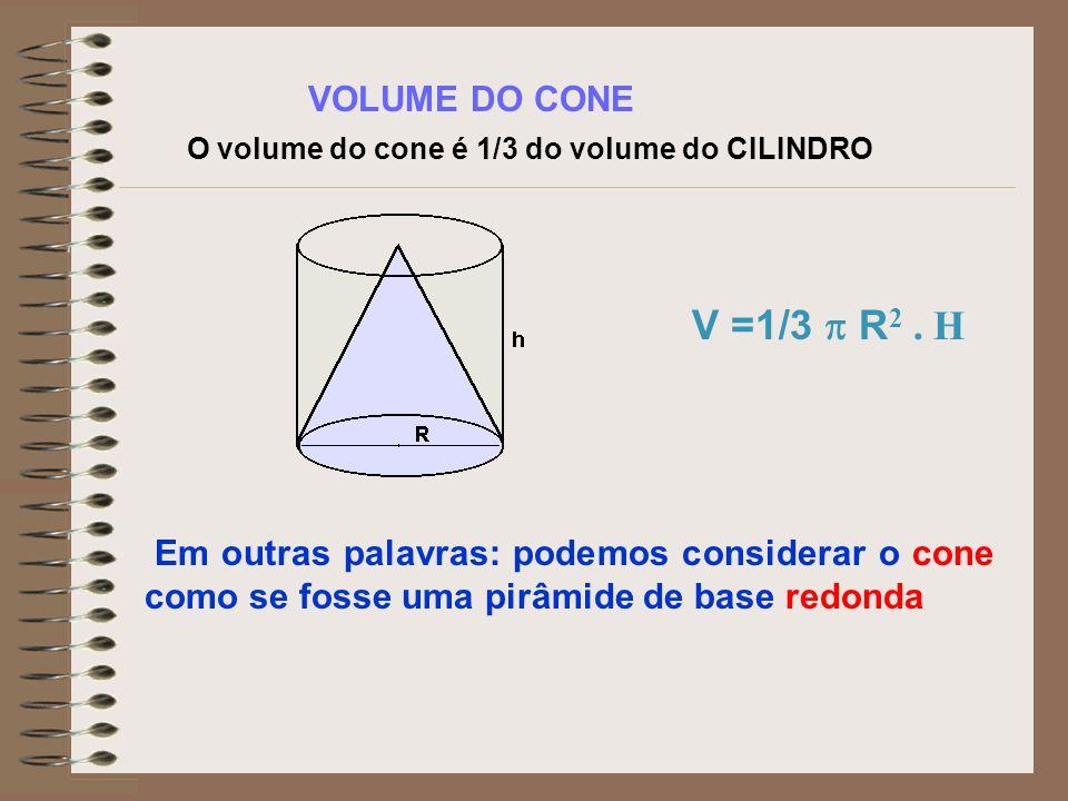 pelo Teorema de Pitágoras, temos: g 2 = h 2 + R 2 A Área Lateral de um cone circular reto pode ser obtida em função de g (medida da geratriz) e R (rai