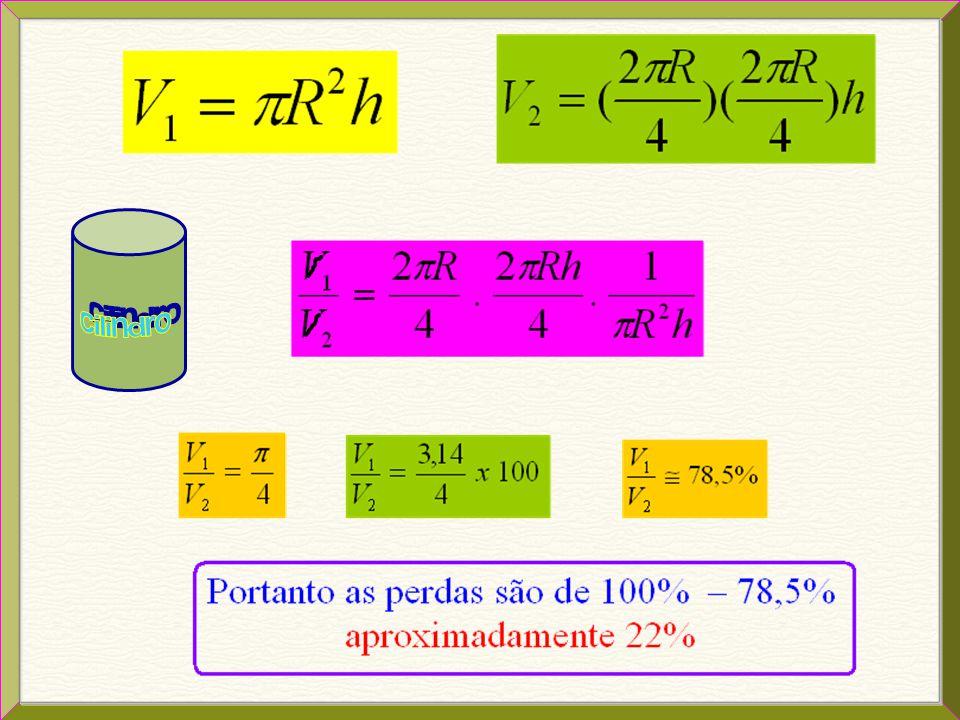 A resolução deste problema pressupõe a compreensão do procedimento descrito no enunciado para a estimativa do volume, o conceito básico de volume do c