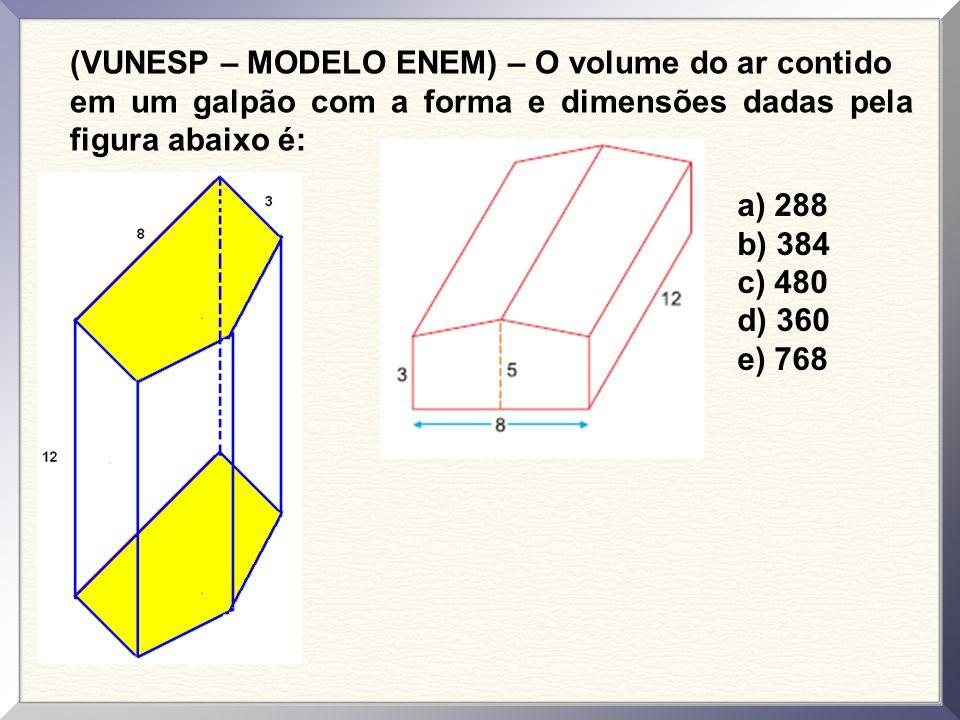 (VUNESP – MODELO ENEM) – Se dobrarmos convenientemente as linhas tracejadas da figura abaixo, obteremos uma figura espacial cujo nome é: a) pirâmide d