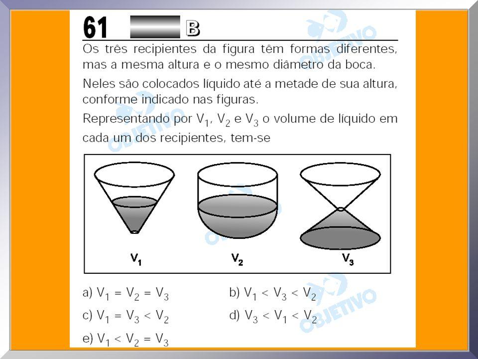 08. De uma viga de madeira de seção quadrada de lado l =10cm extrai-se uma cunha de altura h=15cm, conforme a figura. O volume da cunha é: a) 250 cm 3