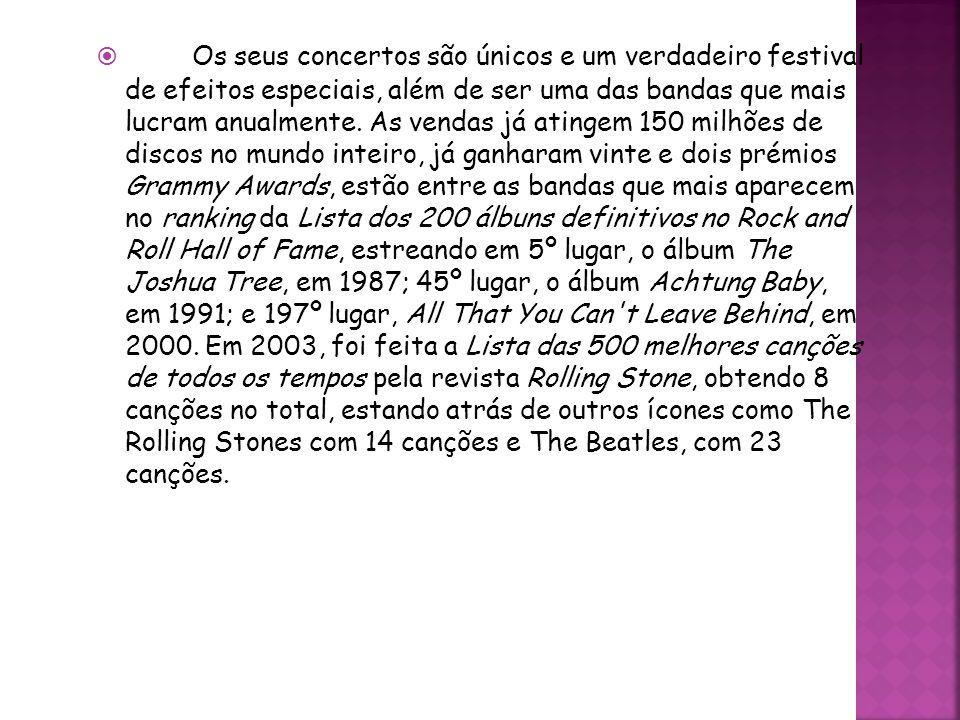 Os seus concertos são únicos e um verdadeiro festival de efeitos especiais, além de ser uma das bandas que mais lucram anualmente. As vendas já atinge