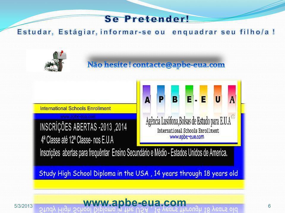 5/3/2013 www.apbe-eua.com 6