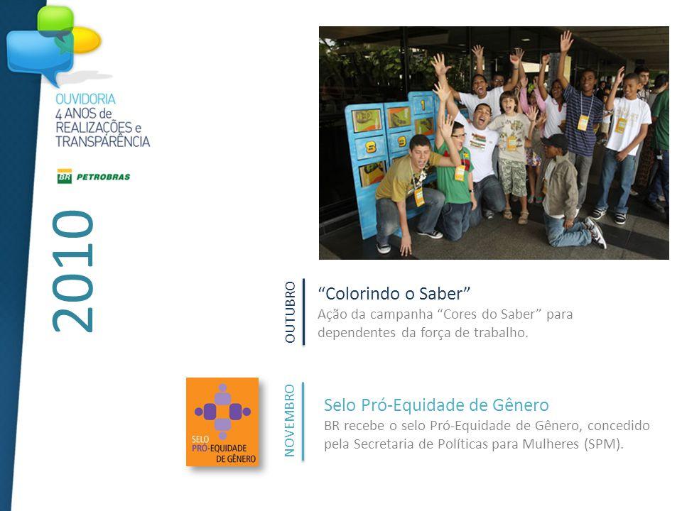 2010 Colorindo o Saber Ação da campanha Cores do Saber para dependentes da força de trabalho.