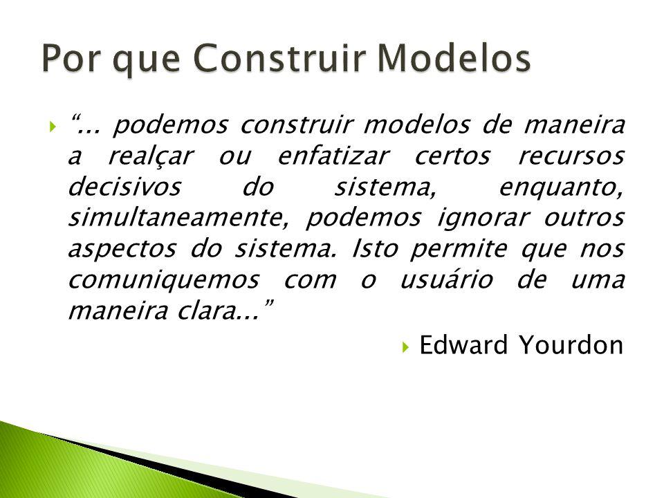 ... podemos construir modelos de maneira a realçar ou enfatizar certos recursos decisivos do sistema, enquanto, simultaneamente, podemos ignorar outro