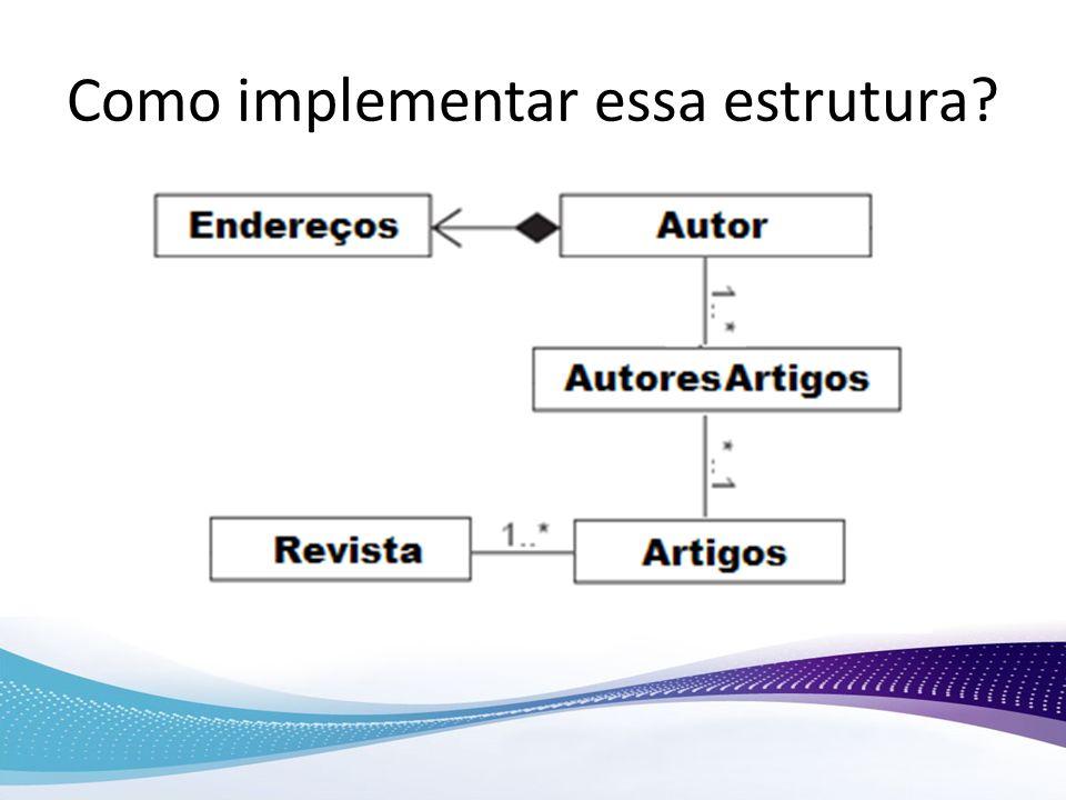 Como implementar essa estrutura?