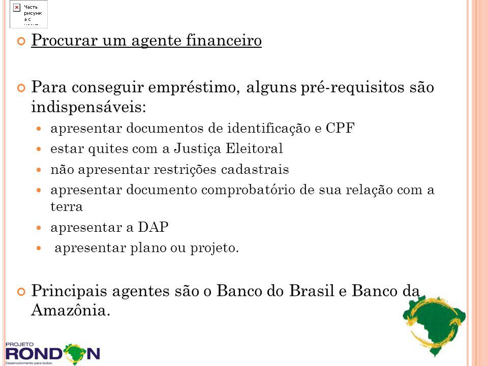 Procurar um agente financeiro Para conseguir empréstimo, alguns pré-requisitos são indispensáveis: apresentar documentos de identificação e CPF estar