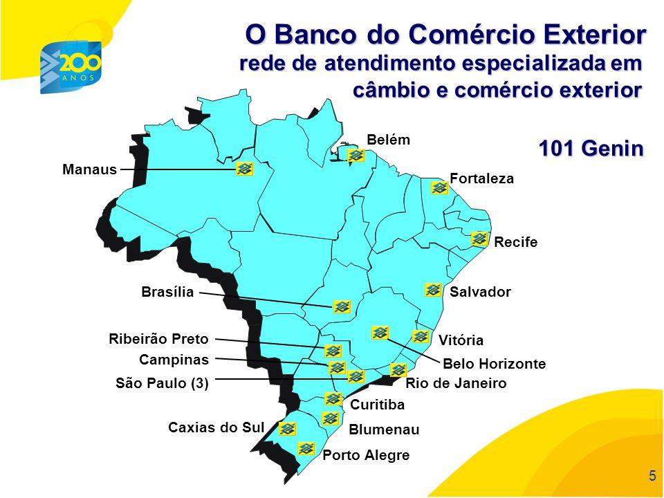 55 5 rede de atendimento especializada em câmbio e comércio exterior O Banco do Comércio Exterior 101 Genin
