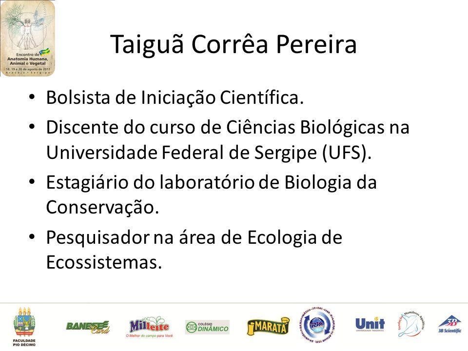 Taiguã Corrêa Pereira Bolsista de Iniciação Científica.