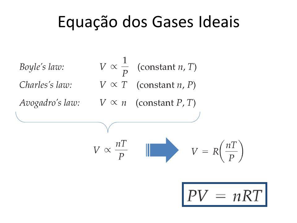 Valores Numéricos da Constante dos Gases