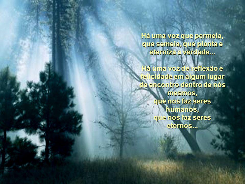 A VOZ Anneth Basílio Há uma voz que canta em nossos corações nos aduzindo ao bem. Há uma voz que ressoa em nossas almas aprimorando a esperança de um