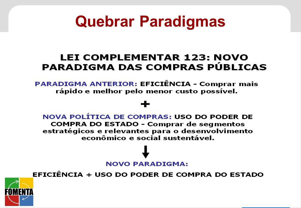 SEBRAE 0800 570 0800 / www.sebrae.com.br Quebrar Paradigmas