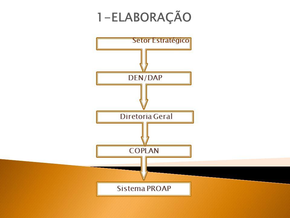 Setor Estratégico 1-ELABORAÇÃO Sistema PROAP DEN/DAP Diretoria Geral COPLAN