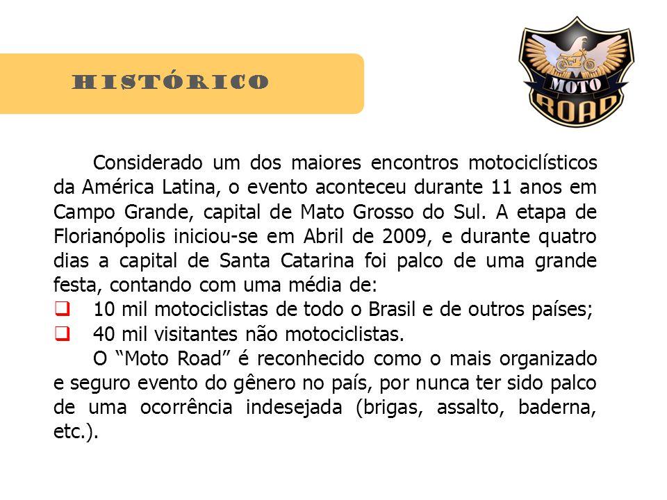 histórico Considerado um dos maiores encontros motociclísticos da América Latina, o evento aconteceu durante 11 anos em Campo Grande, capital de Mato Grosso do Sul.