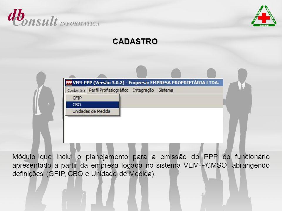 db Consult Módulo que inclui as opções Registrar/Imprimir e Cancelar/Reimpressão.