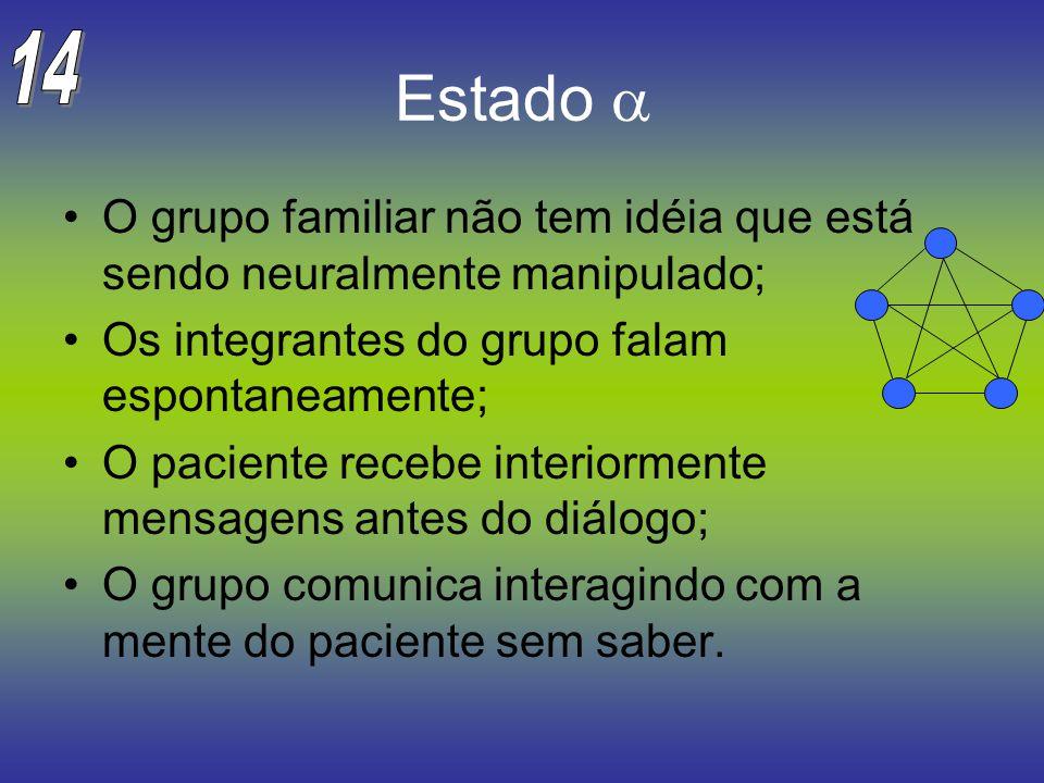 Estado O grupo familiar não tem idéia que está sendo neuralmente manipulado; Os integrantes do grupo falam espontaneamente; O paciente recebe interior