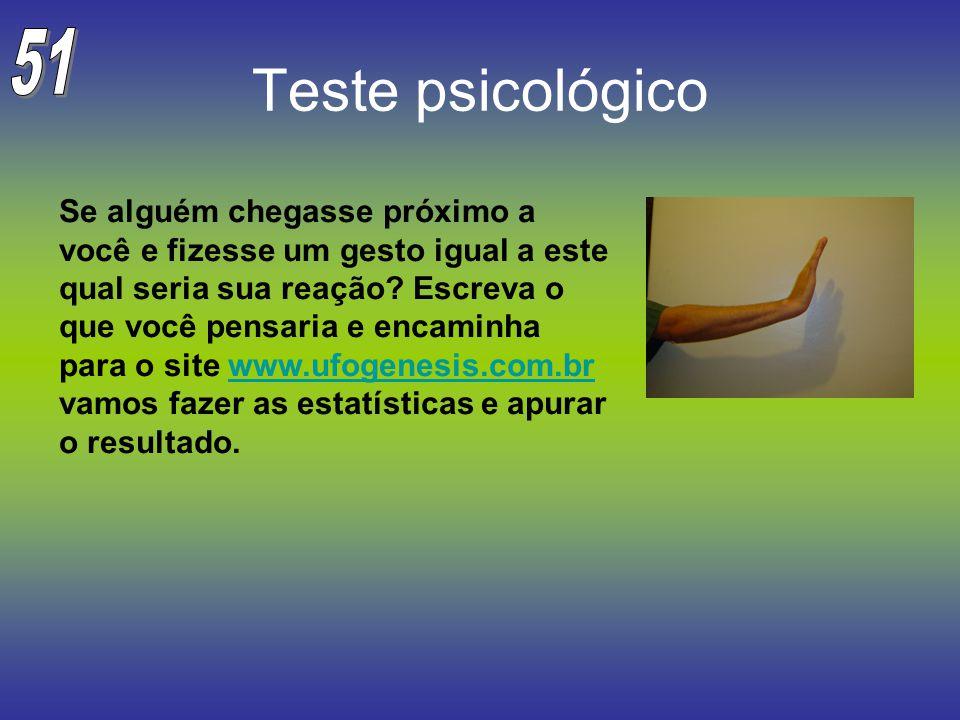 Teste psicológico Se alguém chegasse próximo a você e fizesse um gesto igual a este qual seria sua reação? Escreva o que você pensaria e encaminha par
