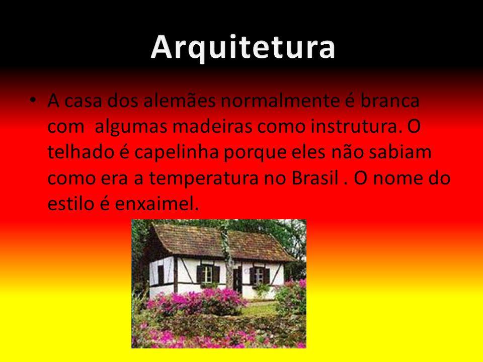 A casa dos alemães normalmente é branca com algumas madeiras como instrutura.