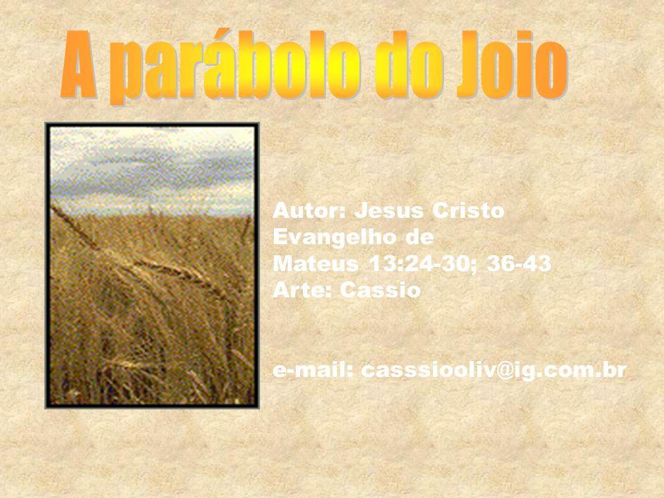 Autor: Jesus Cristo Evangelho de Mateus 13:24-30; 36-43 Arte: Cassio e-mail: casssiooliv@ig.com.br