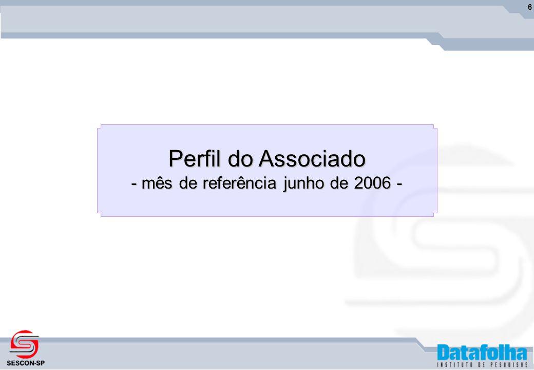 6 Perfil do Associado - mês de referência junho de 2006 -
