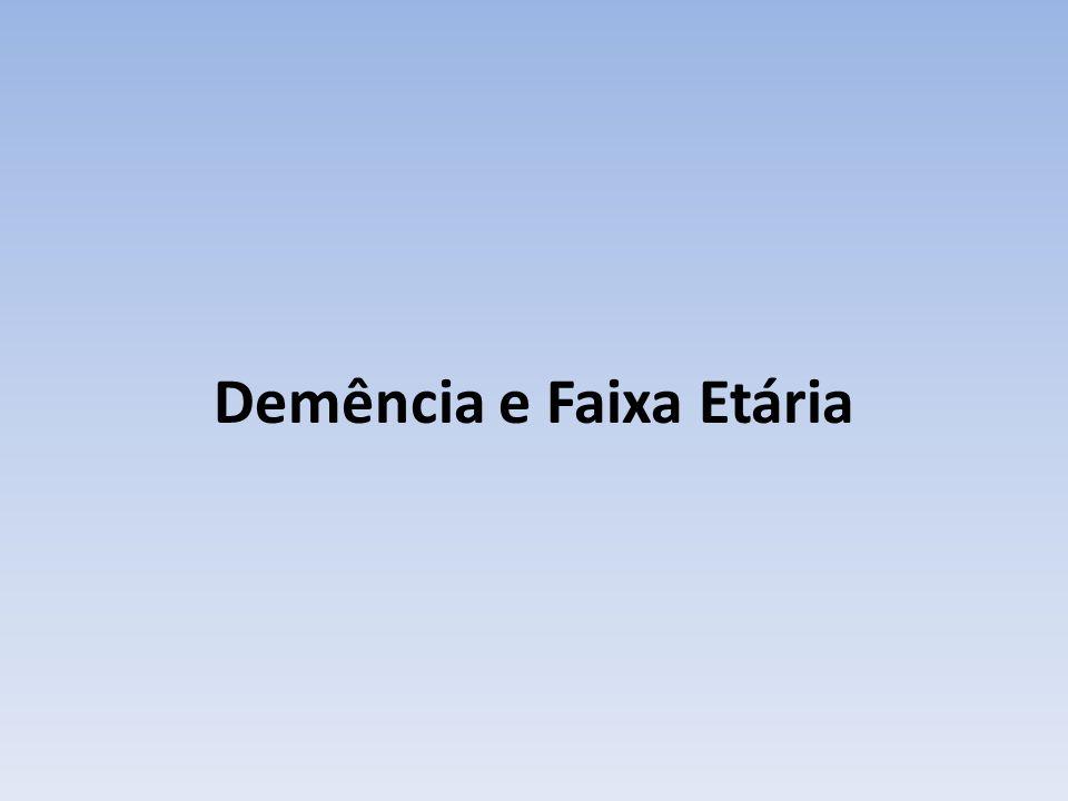 Demência e Faixa Etária