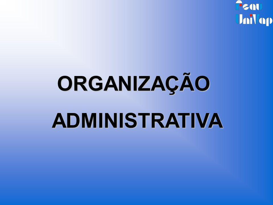 ORGANIZAÇÃOADMINISTRATIVA