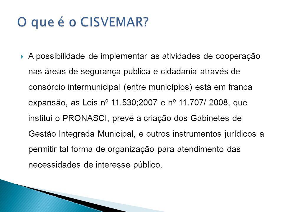 A possibilidade de implementar as atividades de cooperação nas áreas de segurança publica e cidadania através de consórcio intermunicipal (entre munic