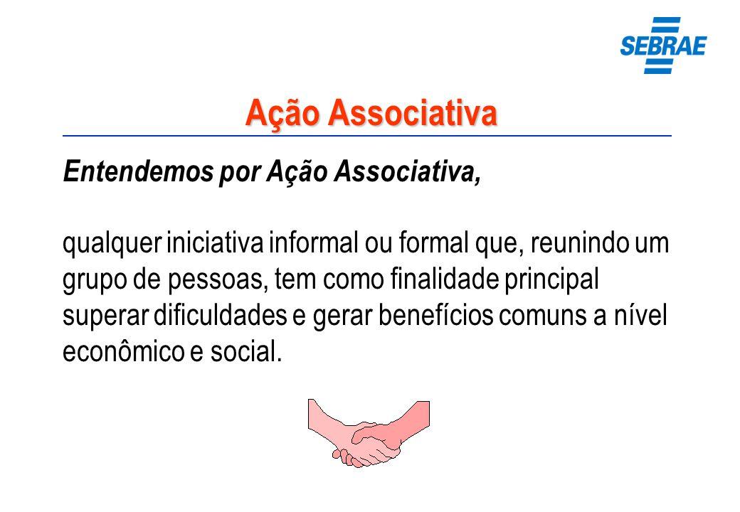 Ação Associativa Entendemos por Ação Associativa, qualquer iniciativa informal ou formal que, reunindo um grupo de pessoas, tem como finalidade princi