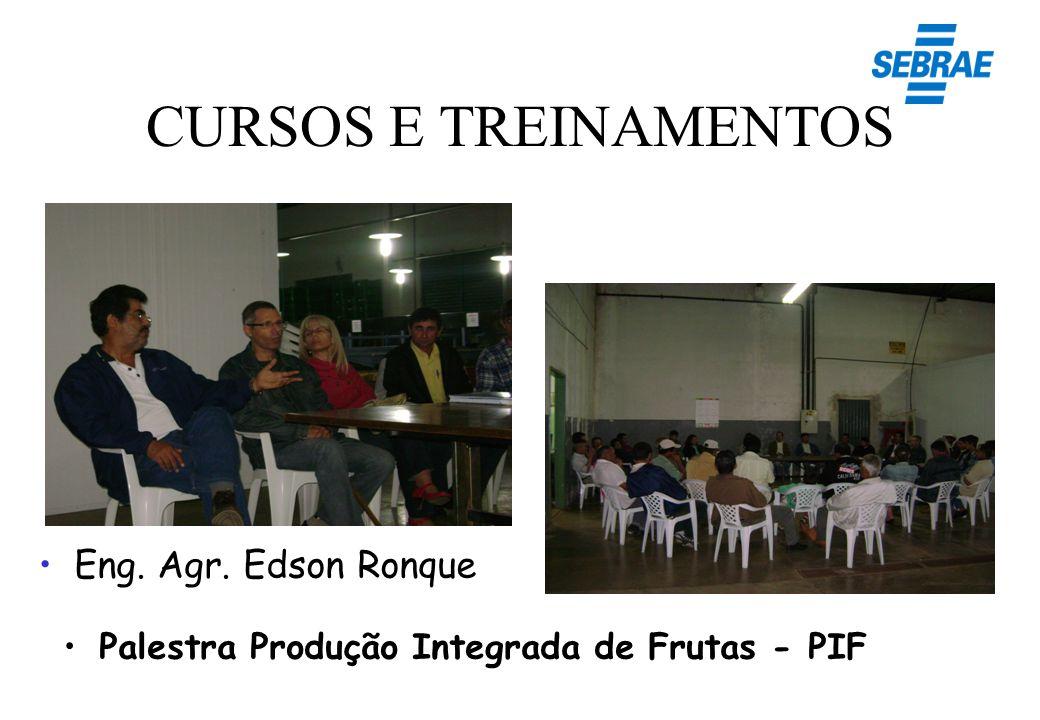 CURSOS E TREINAMENTOS Palestra Produção Integrada de Frutas - PIF Eng. Agr. Edson Ronque