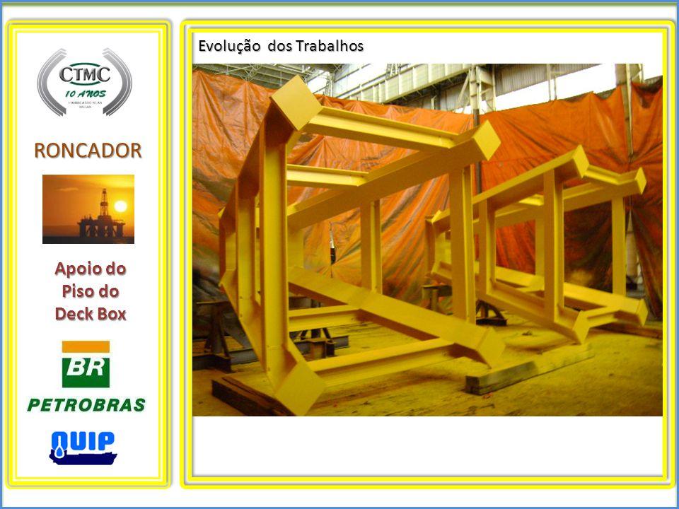 RONCADOR Evolução dos Trabalhos Apoio do Piso do Deck Box