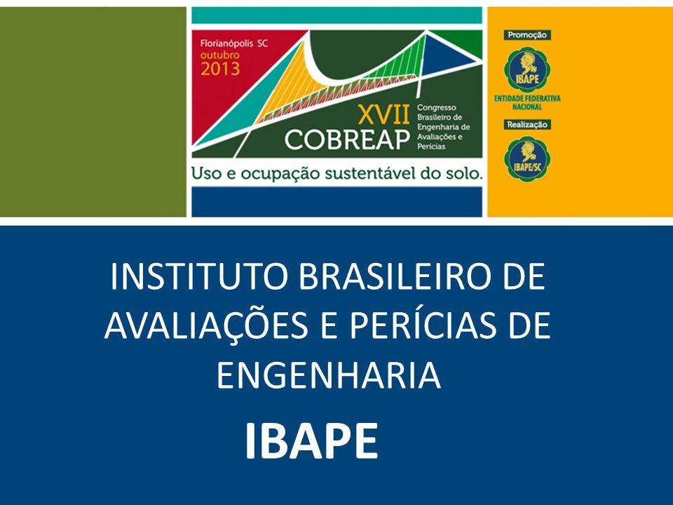 INSTITUTO BRASILEIRO DE AVALIAÇÕES E PERÍCIAS DE ENGENHARIA IBAPE