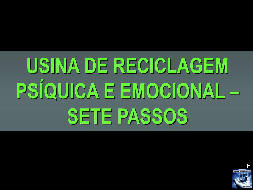 F USINA DE RECICLAGEM PSÍQUICA E EMOCIONAL – SETE PASSOS USINA DE RECICLAGEM PSÍQUICA E EMOCIONAL – SETE PASSOS