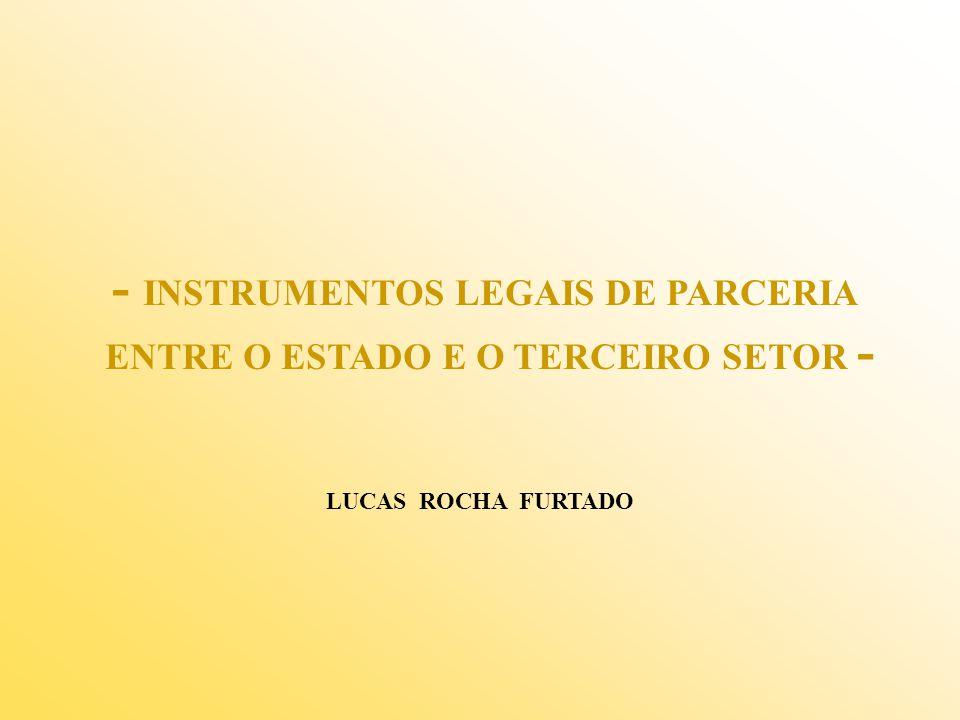 - INSTRUMENTOS LEGAIS DE PARCERIA ENTRE O ESTADO E O TERCEIRO SETOR - LUCAS ROCHA FURTADO
