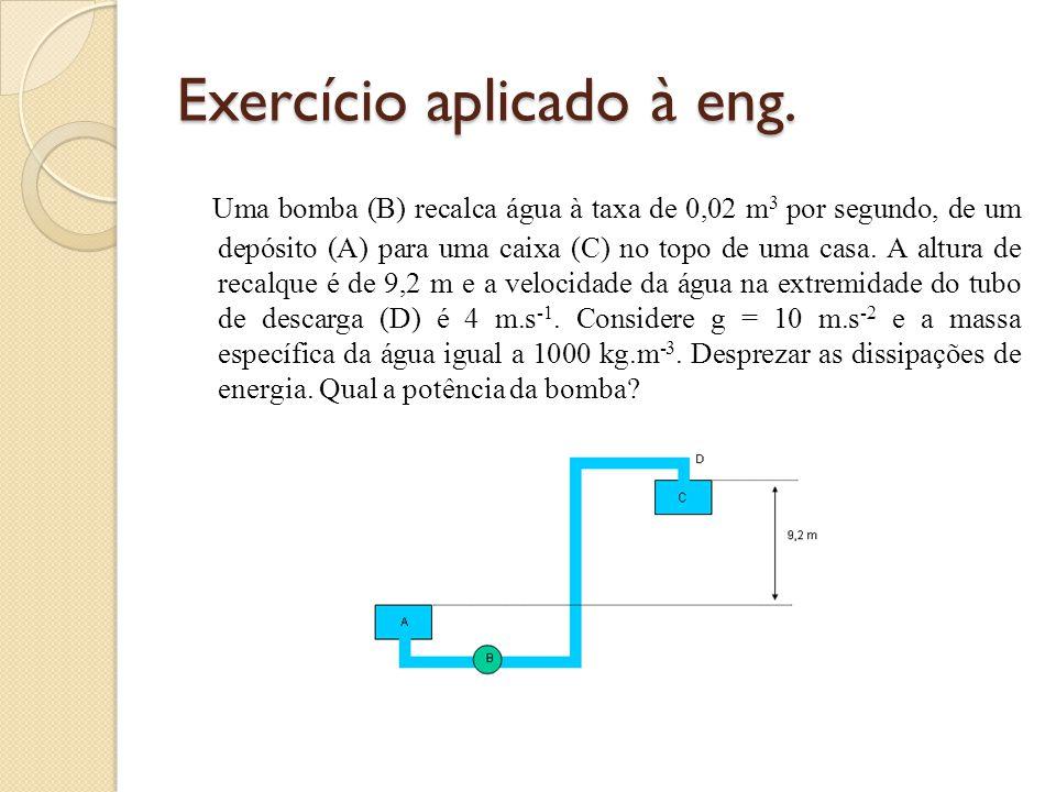 Exercício aplicado à eng.