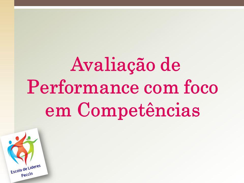 Avaliação de Performance com foco em Competências