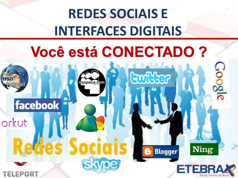REDES SOCIAIS E INTERFACES DIGITAIS REDE SOCIAL: é um conjunto de membros de uma ou mais comunidades inter-relacionadas por meio de Interfaces Digitais.